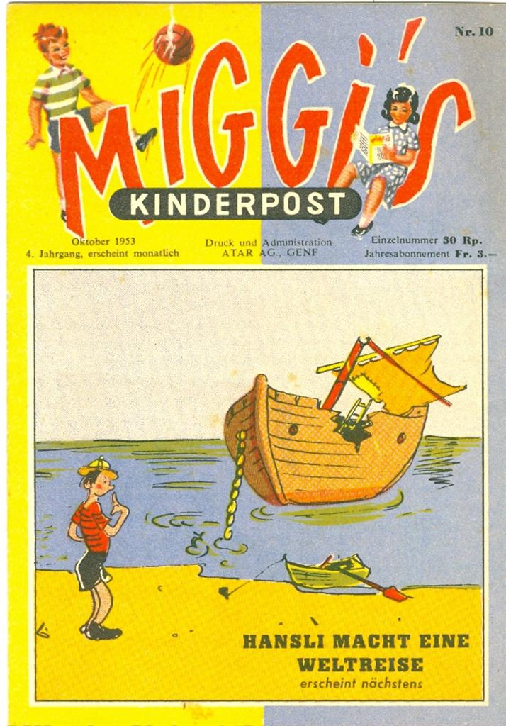 Miggis Kinderpost N° 10 du octobre 1953